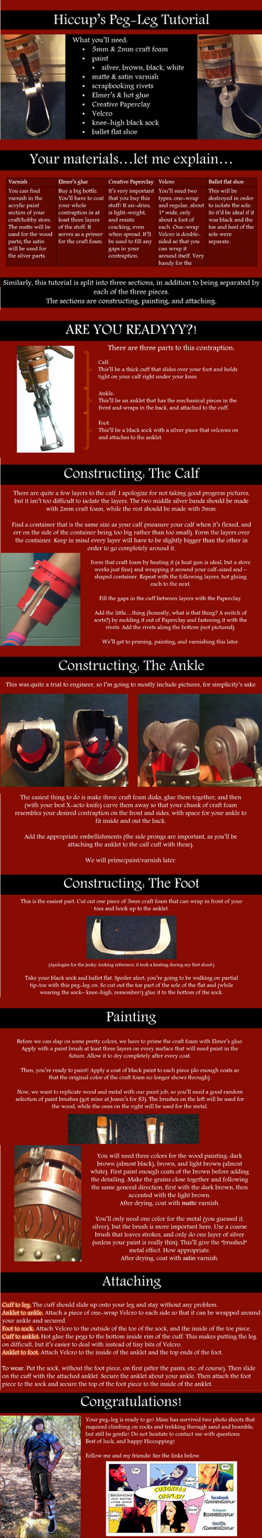 Hiccup's Peg-Leg/False Foot Cosplay Tutorial