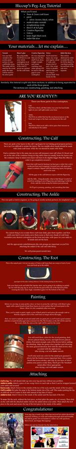 Hiccup's Peg-Leg/False Foot Cosplay Tutorial
