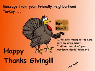 Inspirational Thanksgiving Turkey by donwhitt