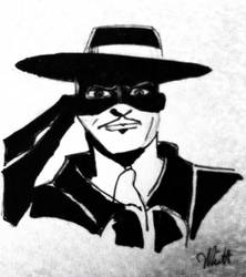 Zorro: in India ink by Don Whitt by donwhitt