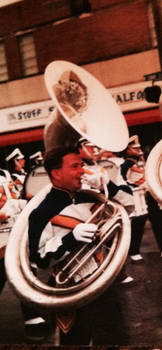 Picture playing tuba: