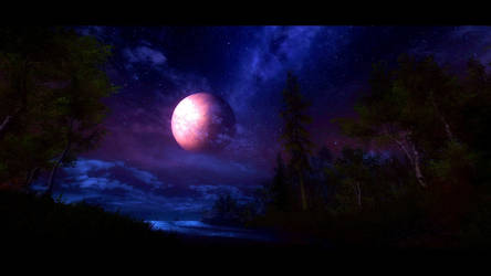 Enchanting Moonrise - Lady Luna - Nocturnal Magic
