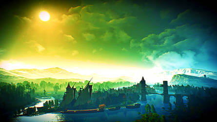 Witcher 3 Landscapes - Velen and Novigrad by vee-kay