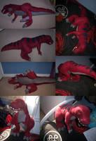 Tyranno saurus plush:FIN PICS by CyanFox3