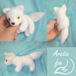 Mini magnet plush: arctic fox