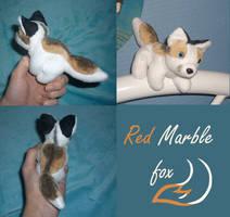 Magnet plush: Red marble fox by CyanFox3