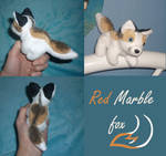 Magnet plush: Red marble fox