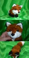 Fluffy red fox plush