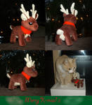 Tiny X-MAS reindeer plush c: