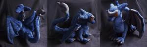 Blue dragon plush