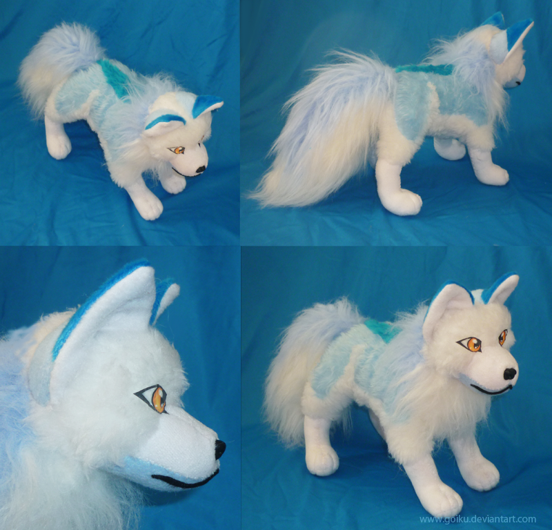 Ice blue fox:  finished by goiku