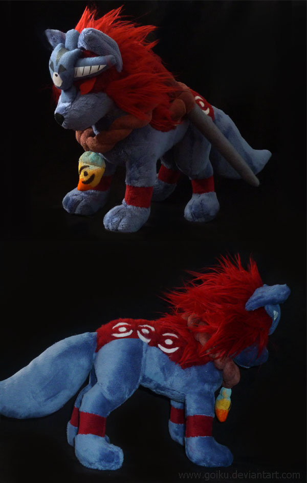 Okami: Oki plush (Wolf form) finished by goiku