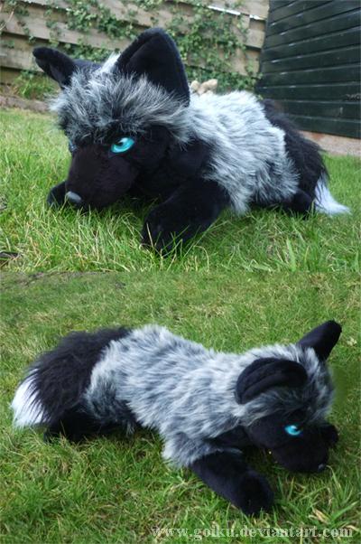 Silver Fox Stuffed Animal, Floppy Silver Fox 2 By Cyanfox3 On Deviantart