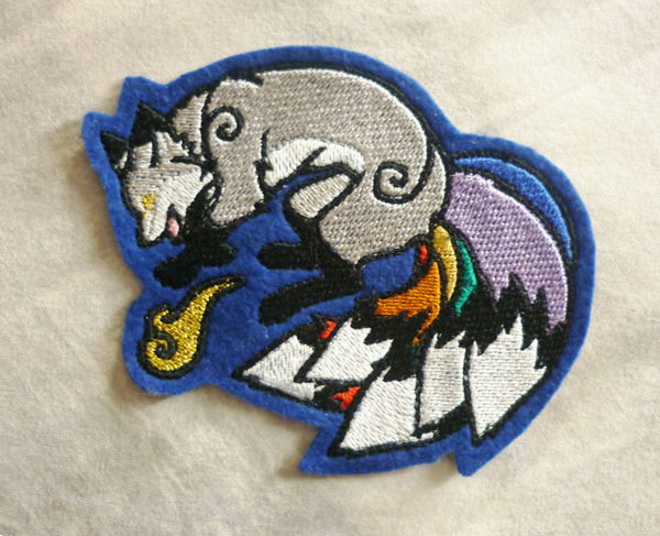 Patch commission: Rainbow kitsune by goiku