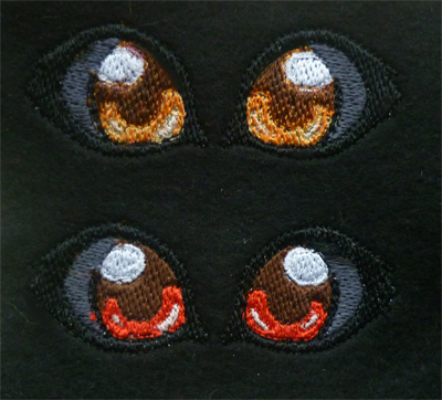 Kasumi's embroidered eyes by goiku