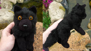 Black wolf - small floppy by CyanFox3