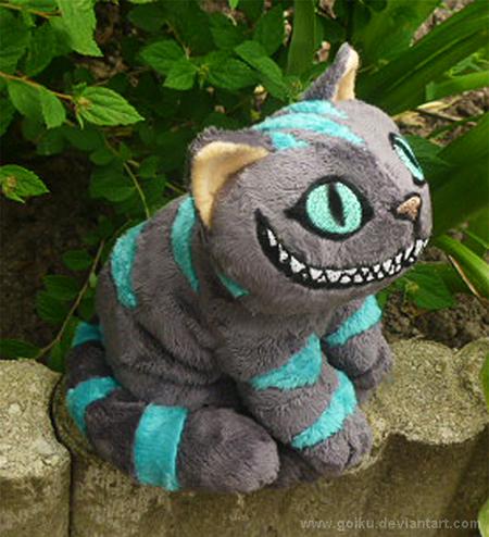 Cheshire Cat GLOW - small floppy 1 by goiku