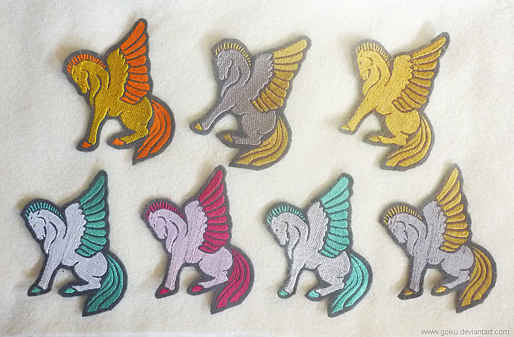 FOR SALE - Pegasus Embroidery Patches By Goiku On DeviantART
