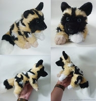 Commission: African wild dog - Small floppy 1 by CyanFox3