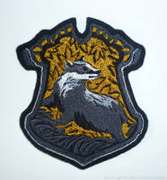 Patch commission: HP Hufflepuff crest by CyanFox3