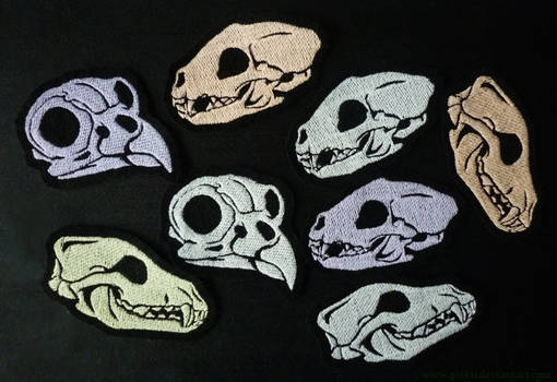 FOR SALE: GLOWING animal skull patches -