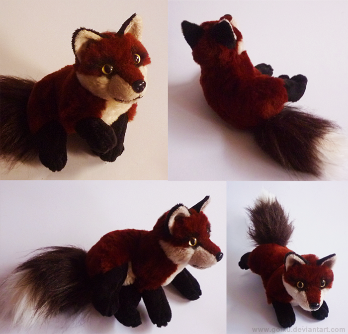 SOLD Dark Red fox - Small floppy by goiku