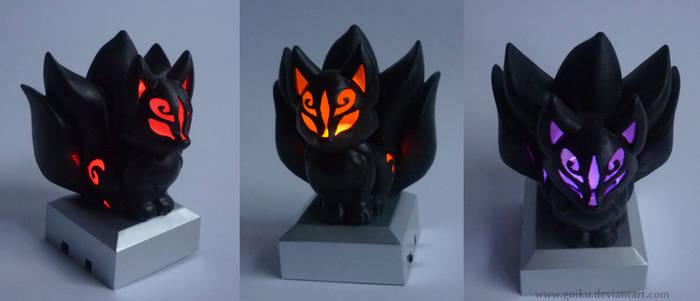 SOLD - 3D print Chibi Kitsune BLACK ver.