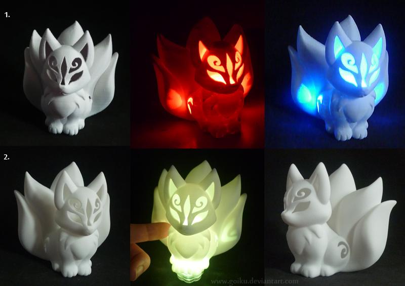 FOR SALE: 3D print Chibi Kitsune WHITE ver. by goiku