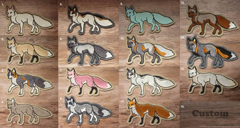 Embroidered fox patches (lots of colors!)
