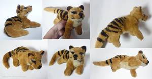 SOLD Thylacine - small floppy by CyanFox3
