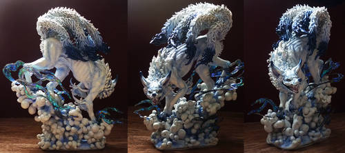 Cloud Nine-tailed fox: Made by mangakasan by CyanFox3