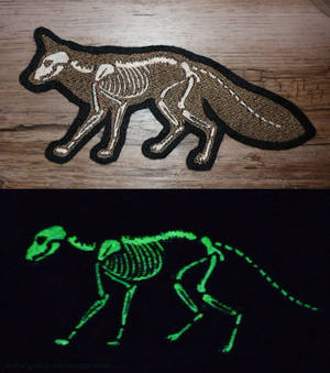 X-ray GLOW Fox embroidered patch