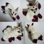 SOLD - Three tailed Gem kitsune - small floppy