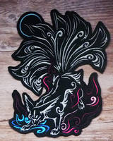 SOLD - Nine-tailed fox embroidery by CyanFox3