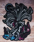 SOLD - Nine-tailed fox embroidery