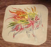 SOLD - Okami: Shiranui embroidery by CyanFox3