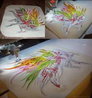 Okami: Shiranui embroidery 2 by CyanFox3