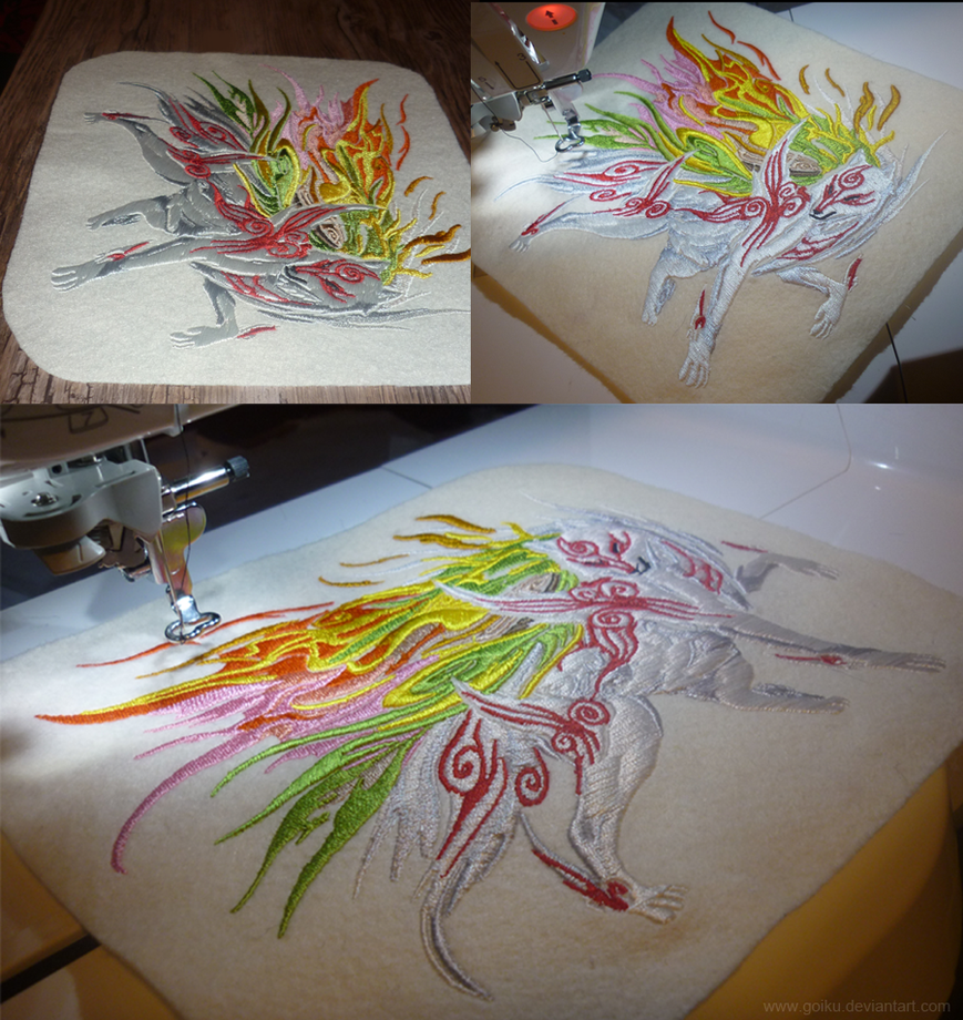 Okami: Shiranui embroidery 2 by goiku