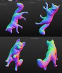 3D model: Full body kitsune WIP 2 Posing