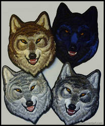 Alpha wolf head  - Embroidered patches