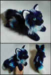 SOLD- Dark Blue Frost fox ~ Small floppy