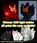 Kitsune LED Light holder ~ 3D Print file