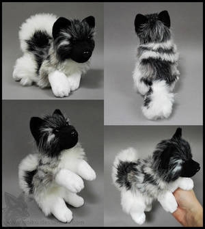 SOLD - Norwegian Elkhound ~ Small floppy by CyanFox3