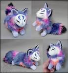 Commission: Blue lotus kitsune