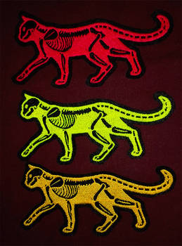 NEW Traffic Safety X-ray cat ~ Embroidered patches