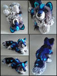 SOLD - Night Frost wolf ~ small floppy