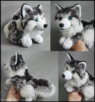 SOLD - Grey Frost wolf by CyanFox3