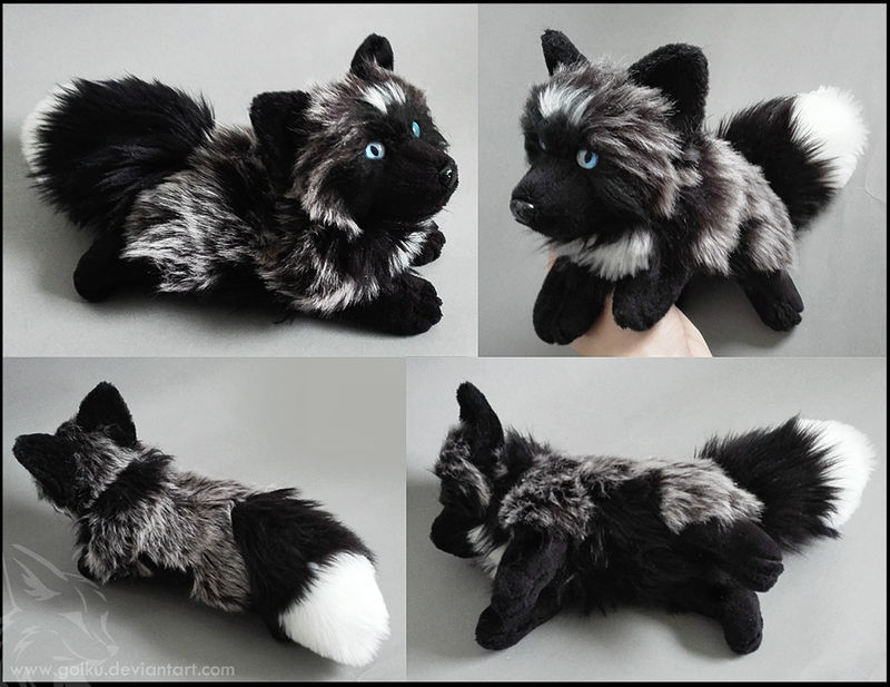 Silver Fox Stuffed Animal, Sold Silver White Mark Fox Blue Eyes By Cyanfox3 On Deviantart