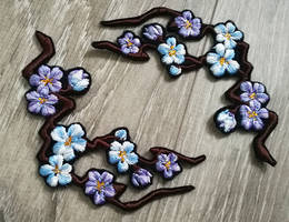 FOR SALE: Cherry Blossom branch ~Embroidered patch