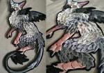 Trico Last Guardian ~ embroidery prototype by CyanFox3